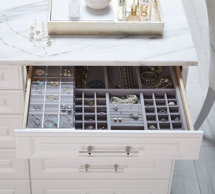 Have an extensive jewelry collection? Create all the room you could dream of with customized jewelry storage through TCS Closets.