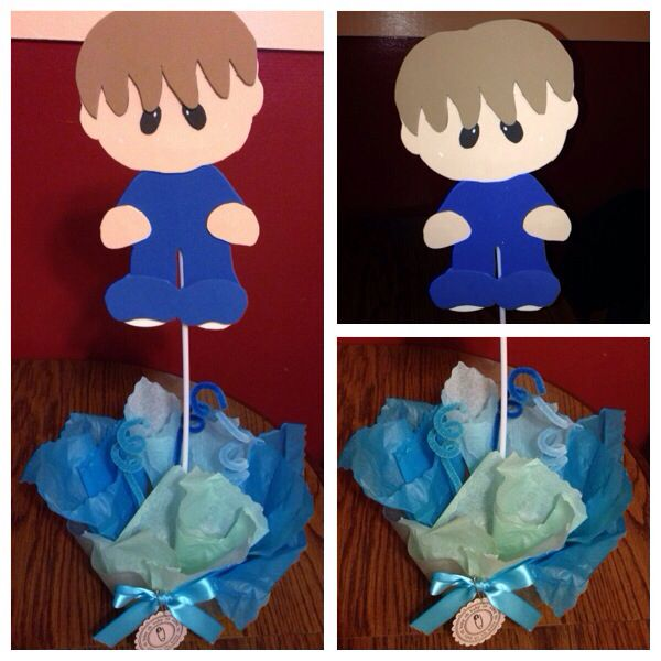 Cute baby shower center pieces!! Dhs by Jessica Gorski.