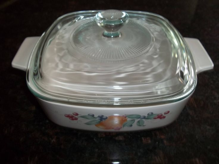 Corning Ware  1Quart/ 1 Liter Abundance A-1-B with pyrex lid by PyrexKitchen on Etsy