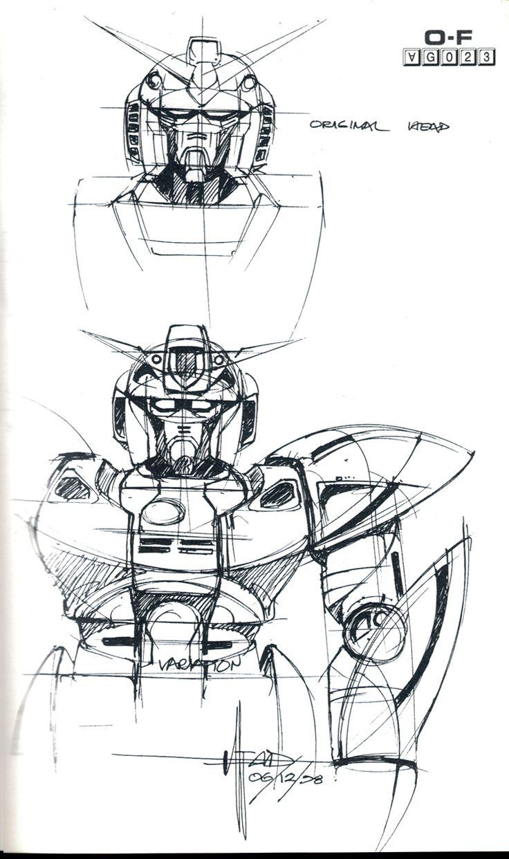 Syd Mead Gundam Sketch
