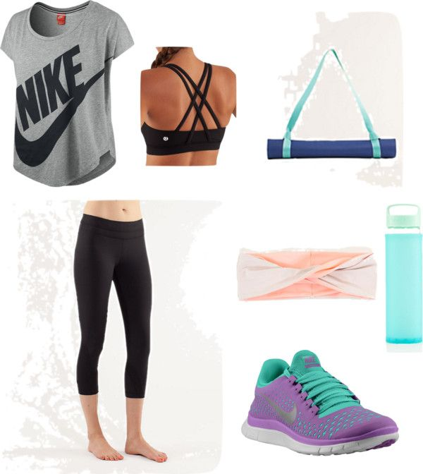 American sportswear has become a huge fashion trend and allows men and women to enjoy working out for one more thing... the ability to look cute while doing it! This combination is made up of clothes from Nike and the very trendy Lululemon. Athletic clothes have become high end, everything in this pin will run you $416.