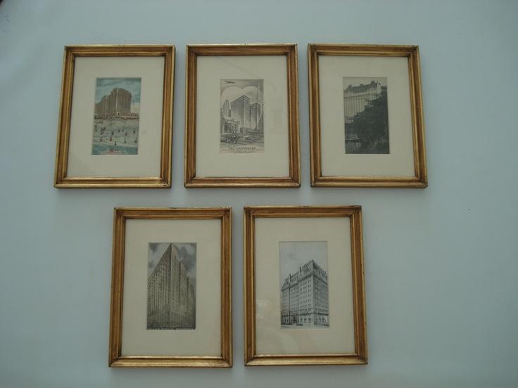 Five litographs (american arquitecture)  90,00 euros