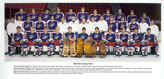 Team USA Olympic Hockey Jersey History 1920-2010 | The United ...