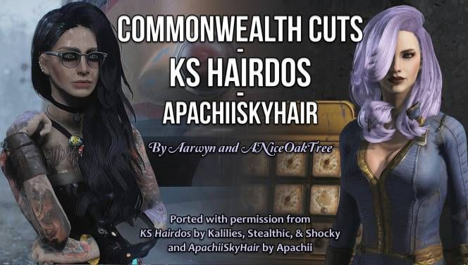 Collection of conversions from Skyrim's KS Hairdos and