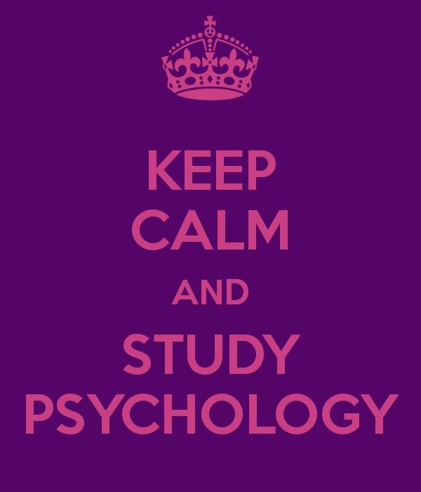studying psychology should keep me calm..not stressed