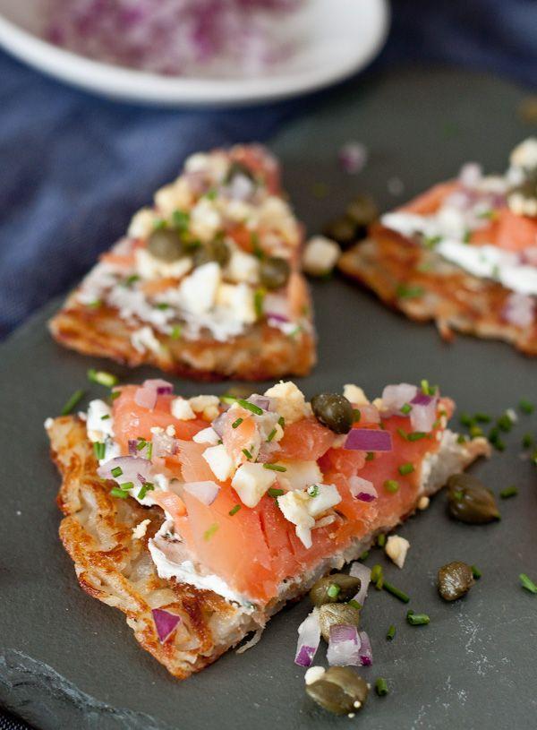 Smoked Salmon Potato Tartine | Blogging Over Thyme
