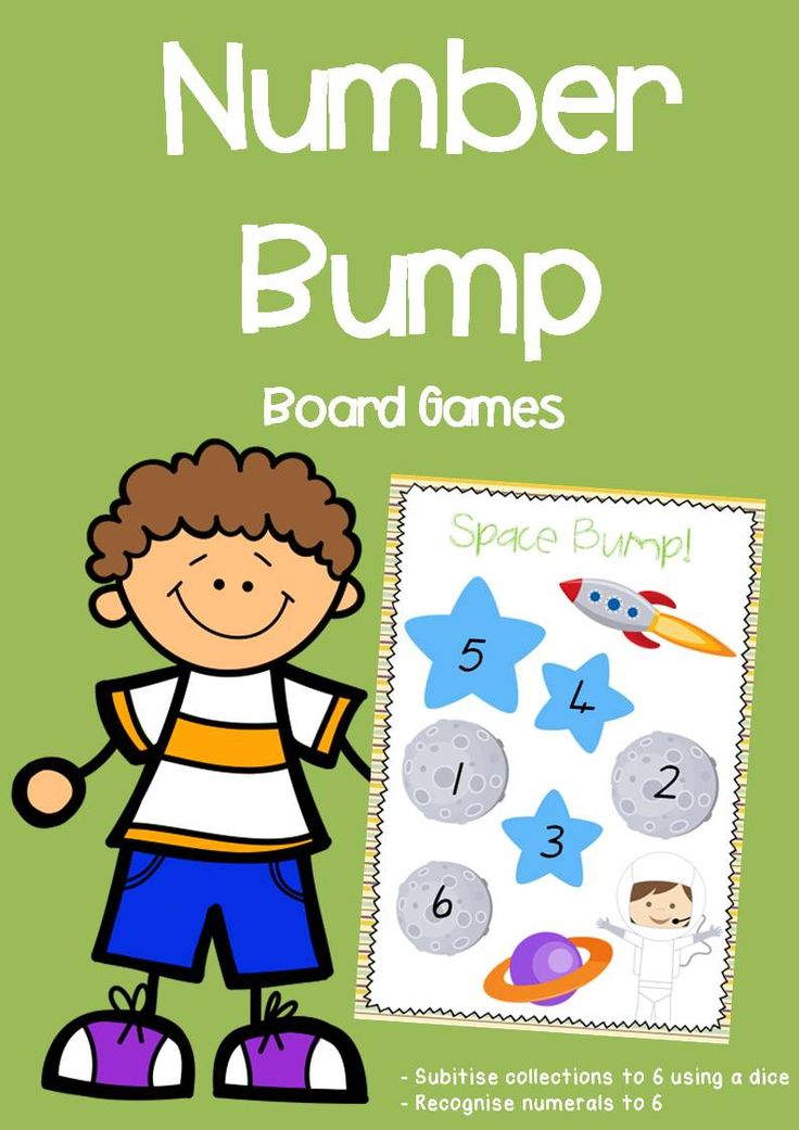 Number Bump Game Boards - Numerals to 6