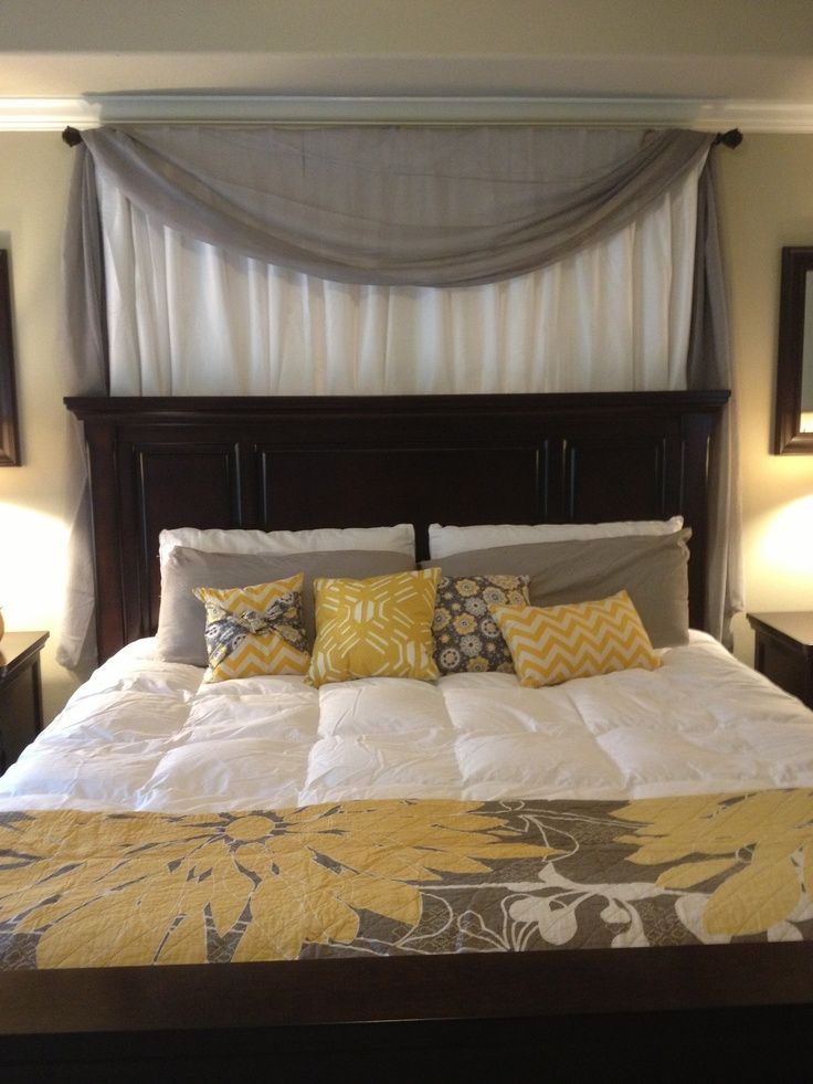 Best 25+ Curtain behind headboard ideas on Pinterest