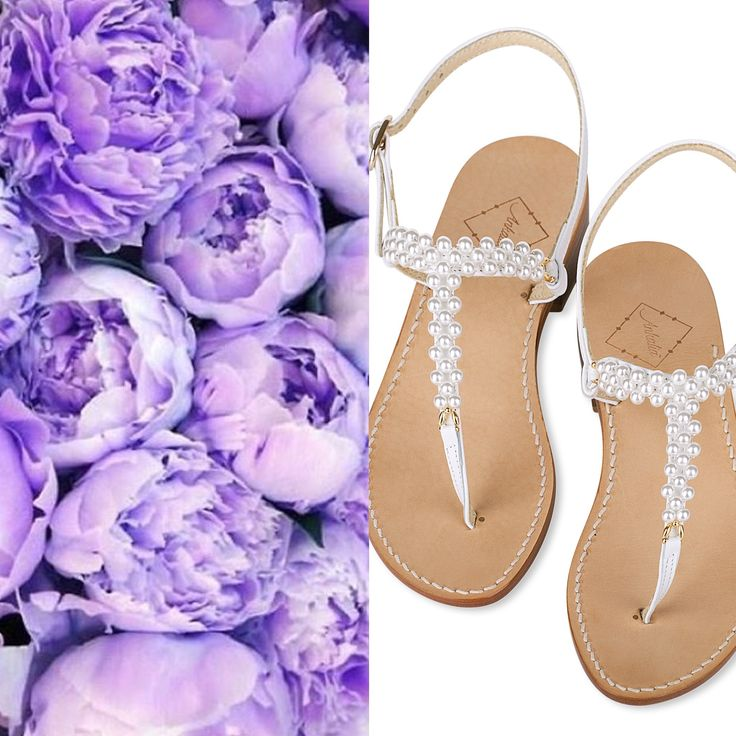 Pearl wedding sandals. Available in flats or with a little 2cm heel. Worldwide shipping. #ankaliasandals #pearlsandals #weddingsandals