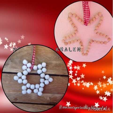 Marijecreatiesblogsspot.nl, #action, #kerst# #ster #decoratie #creatief
