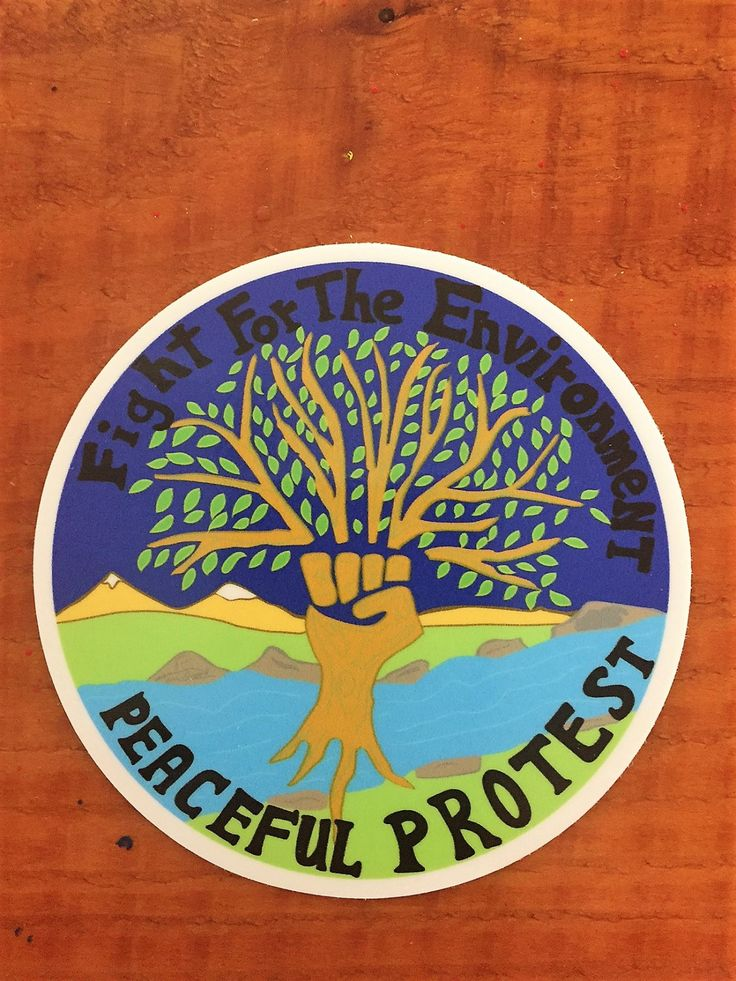 Climate Change Sticker, Save The Planet Sticker, Protest, Protest Sticker, Peace Sign, Environmental Sticker, Earth Day Sticker, Tree Art by AmericanGreenCrafts on Etsy