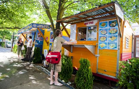 Top 10 Reasons to Visit Portland, Oregon | Lonely Planet (Food carts at the SW 9th & Alder Food Cart Pod, downtown.)