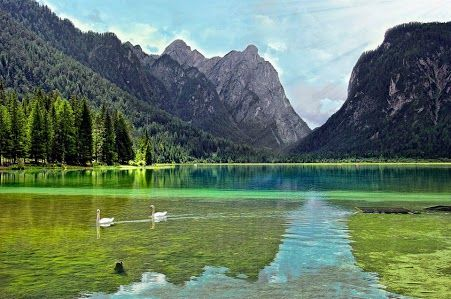 Dobbiaco, Toblach - Il lago, Italy