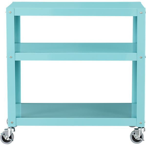 go-cart aqua three-shelf table - printer stand?
