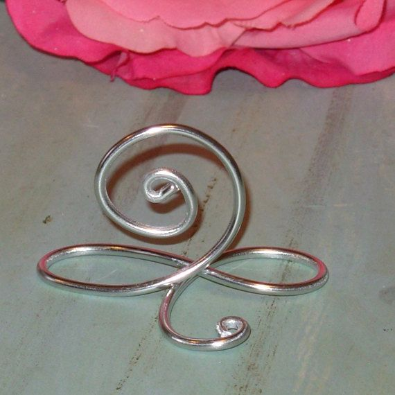 30 silver infinity bow wire name place cards or small table number holders silver table number stands