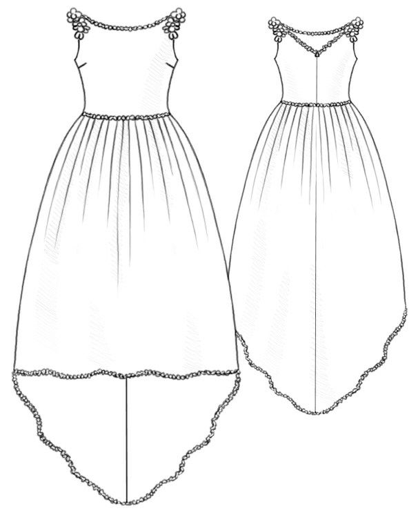 Wedding Dress  - Sewing Pattern #5212 Made-to-measure sewing pattern from Lekala with free online download.