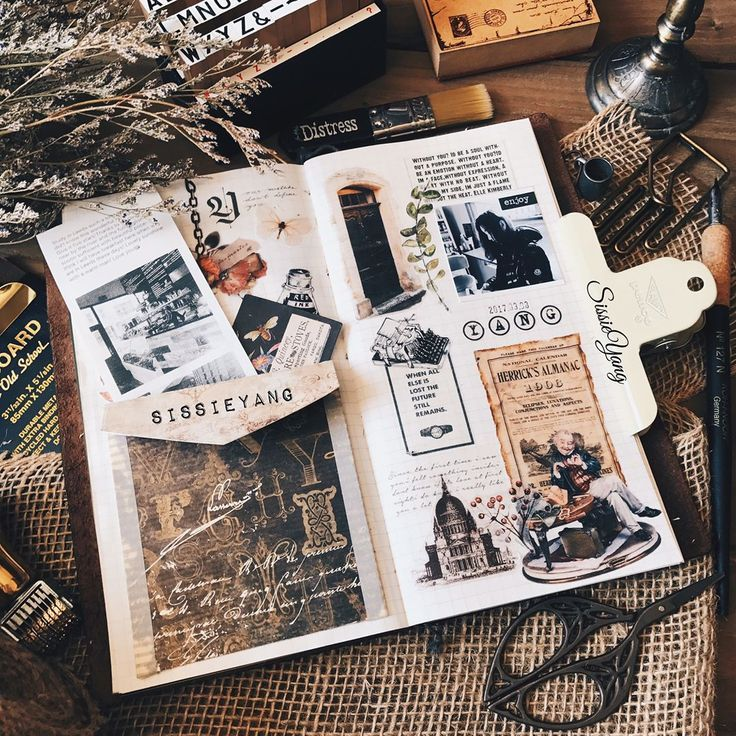 Vintage Style Scrapbook Type Journaling Travel Journal Scrapbook Travel Art Journal Travel Journal Pages