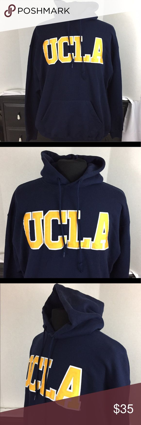 UCLA university hoodie sweatshirt Blue/Gold - 2XL UCLA university hoodie sweatshirt Blue/Gold - 2XL. Gently used in very good condition. Sweaters