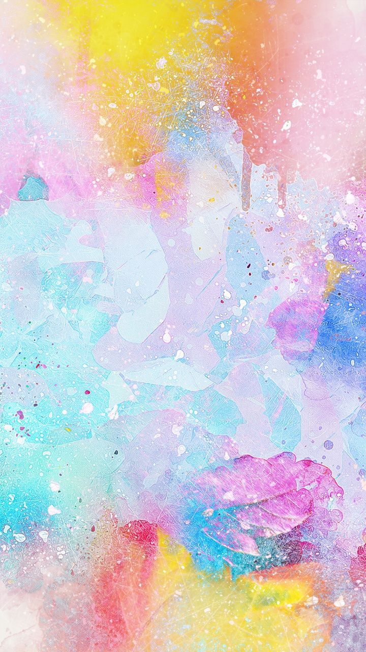 Water Color Surface Canvas Colorful Art 720x1280 Wallpaper