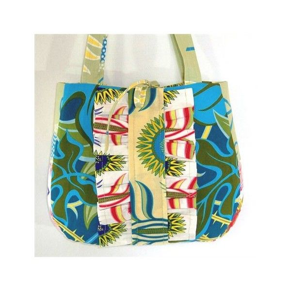 Turquoise Purse, Floral Shoulder Bag, Ruffle Purse, Handmade Handbag ($30) ❤ liked on Polyvore featuring bags, handbags, shoulder bags, handbag purse, blue purse, floral handbags, shoulder hand bags and hand bags