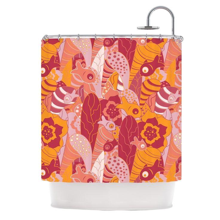 25 best ideas about orange shower curtains on pinterest for Pink and orange bathroom ideas