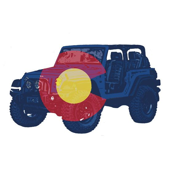 Colorado flag Jeep wrangler two door #jeep #coloradoflag #colorado