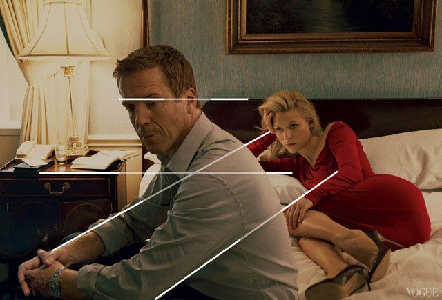 Photograph by Annie Leibovitz showing Coincidences.