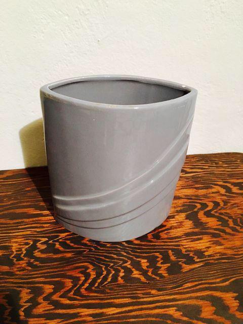 Mid-Century Modern Gray Vase on Chairish.com