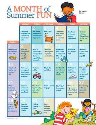 A Month of Summer fun - Activities for kids!