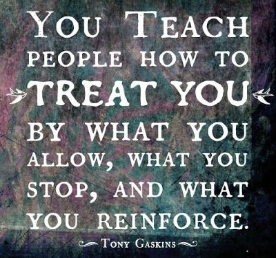 What's worse is what you allow is how they see you, let them walk all over you time and time again and you might as well have a Welcome sign on your face.  Doormat.