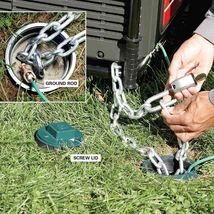 Lock it Down - 16 Tips for Using Emergency Generators: http://www.familyhandyman.com/smart-homeowner/home-safety-tips/tips-for-using-emergency-generators