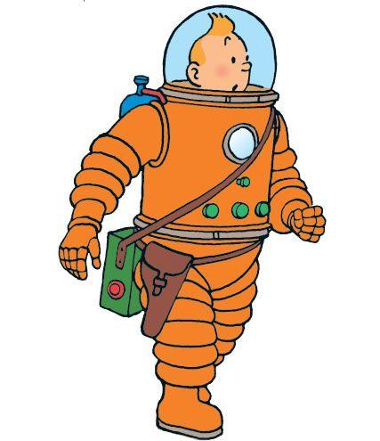 On a marché sur la Lune. Pourquoi Tintin porte t'il un révolver à sa ceinture?