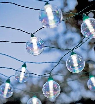 Globe Solar String Lights - eclectic - outdoor lighting - Plow & Hearth