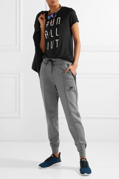 Nike - Tech Fleece Cotton-blend Track Pants - Gray - small