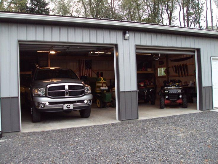 Pole barn garage garage mancave workshop pole barn for Barns garages