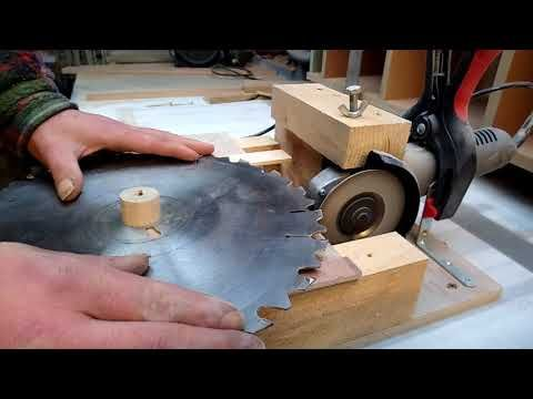 Homemade Circular Saw Blade Sharpener, Angle Grinder