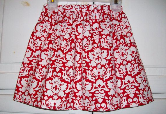 Hey, I found this really awesome Etsy listing at https://www.etsy.com/listing/109631284/twirl-skirt-red-damask-christmas-holiday