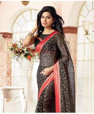 Chiffon Brasso Saree with Blouse | I found an amazing deal at fashionandyou.com and I bet you'll love it too. Check it out!