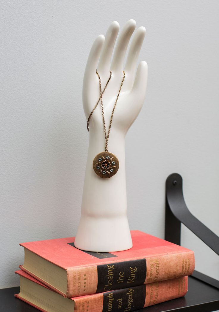 Raise Your Hand Jewelry Holder. Call on this patiently raised hand jewelry stand byOne Hundred 80 Degrees to exhibit your rings and other trinkets! #white #modcloth