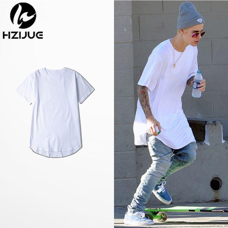 Justin bieber ropa de hombre de las camisetas de algodón camiseta del swag monopatín camiseta solid hip hop camiseta de los hombres sólidos más el tamaño TEE
