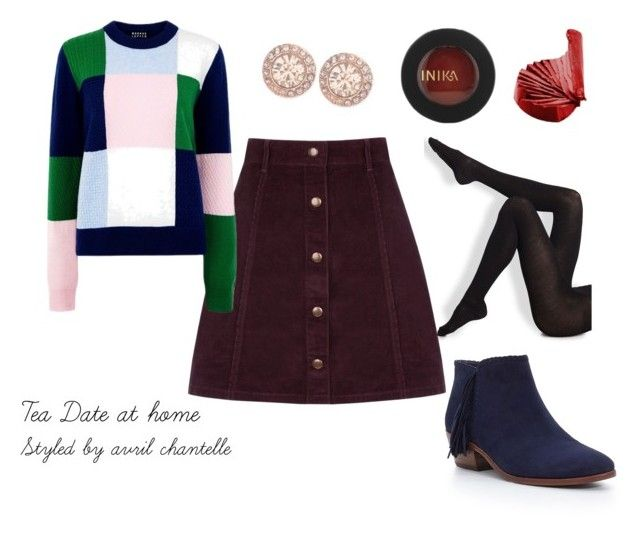 Tea Date at home by avrilchantelle on Polyvore featuring Markus Lupfer, Wolford, Oasis, Sam Edelman, Givenchy and INIKA