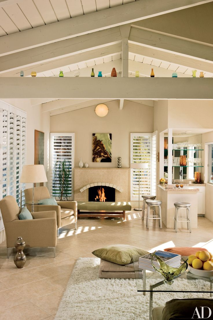 Studio reed jonathan reed s spare crafted interior design - A 1970s Spanish Style Ranch Home In Palm Springs