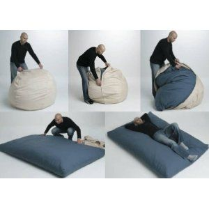 Bed disguised as a beanbag! This would be great for the lab, certainly