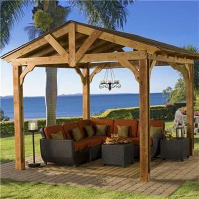 12 best pavilions images on pinterest   outdoor pavilion, backyard ... - Patio Pavilion Ideas