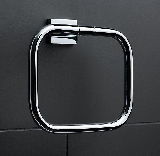 "Modern Towel Ring - RH  8½""W x 2½""D x 7¾""H"