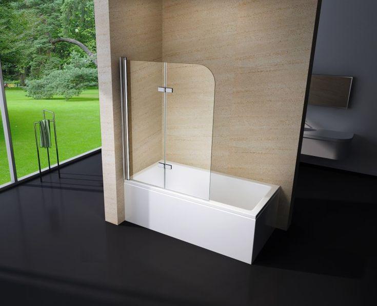 duschabtrennung duschwand badewanne nano echtglas ex209 1200 x 1400 x 6 mm 001 - Duschkabine Badewanne Mehr Praktisch Und Komfortabel