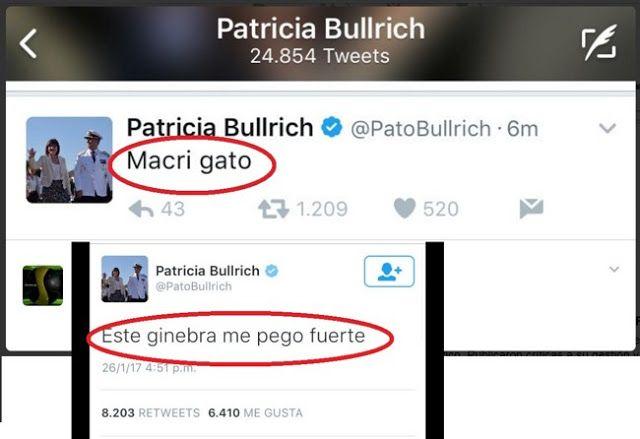 """HACKEARON LA CUENTA DE LA MINISTRA DE SEGURIDAD BULLRICH: ARDEN LAS REDES SOCIALES   Bullrich hackeada: """"Soy una borracha inútil que le queda grande este cargo"""" Hackearon la cuenta de Twitter de Patricia Bullrich: Este ginebra me pego fuerte. La cuenta de Twitter de la Ministra de Seguridad de la Nación fue intervenida por un usuario que hasta hizo público el número de teléfono de la funcionaria. Un hacker vulneró la cuenta de Twitter de Patricia Bullrich Ministra de Seguridad de la Nación…"""