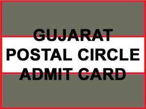 gujarat postal circle admit card
