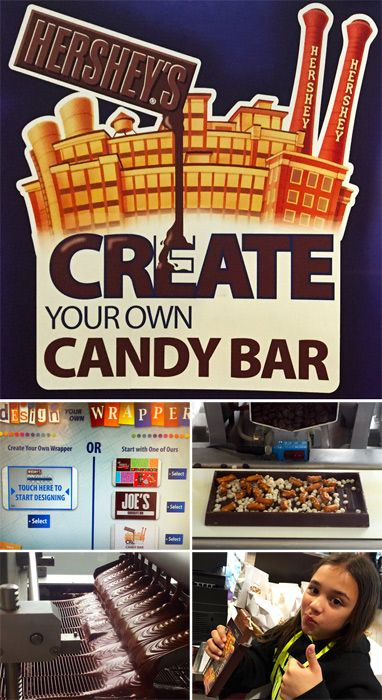 Create Your Own Candy Bar activity at Hershey's Chocolate World in Hershey, PA