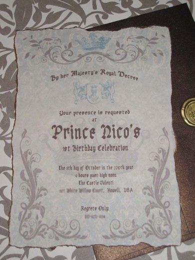"Birthday ""Royaly Sweet Prince 1st Birthday""   Catch My Party"